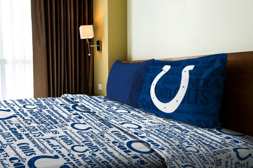 Indianapolis Colts Anthem Twin Bed Sheets
