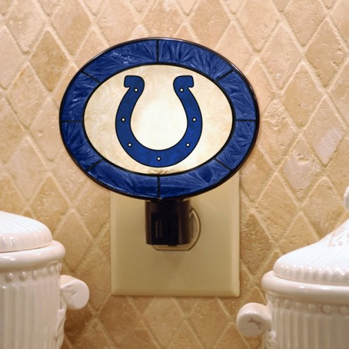 Indianapolis Colts Art Glass Night Light