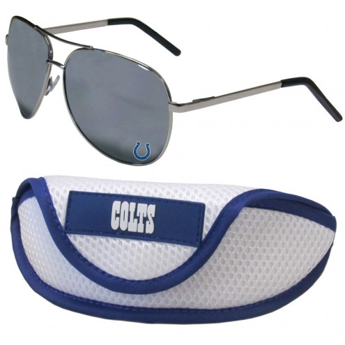 Indianapolis Colts Aviator Sunglasses and Sports Case