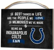 Indianapolis Colts Best Things Small Plaque