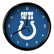 Indianapolis Colts Black Rim Clock