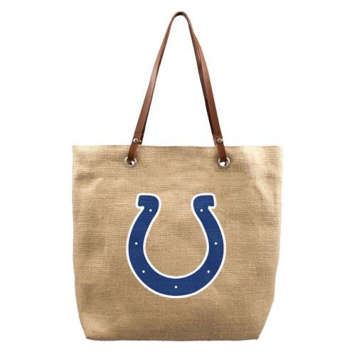 Indianapolis Colts Burlap Market Tote