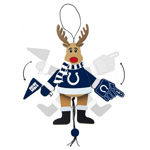 Indianapolis Colts Cheering Reindeer Ornament