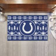 Indianapolis Colts Christmas Sweater Starter Rug
