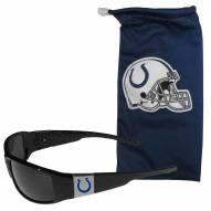 Indianapolis Colts Chrome Wrap Sunglasses & Bag