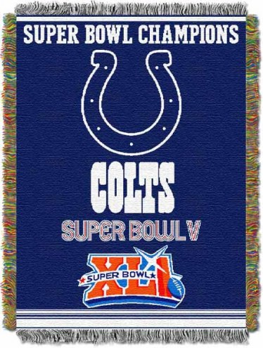 Indianapolis Colts Commemorative Throw Blanket