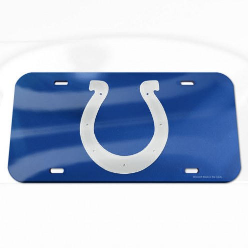 Indianapolis Colts Crystal Mirror License Plate
