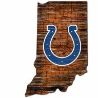 Indianapolis Colts Distressed State with Logo Sign