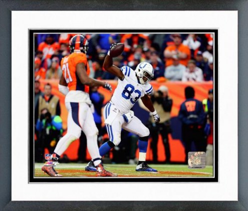 Indianapolis Colts Dwayne Allen Touchdown Catch 2014 Playoff Action Framed Photo