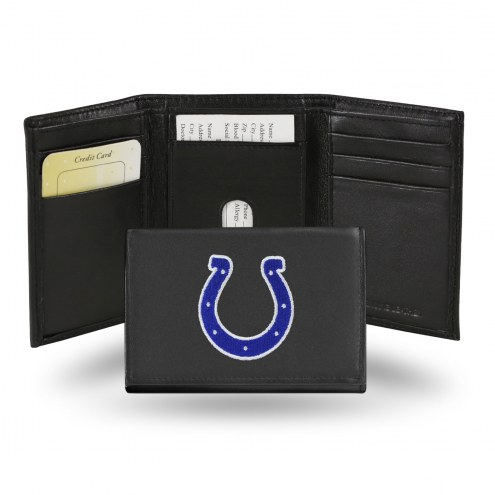Indianapolis Colts Embroidered Leather Tri-Fold Wallet