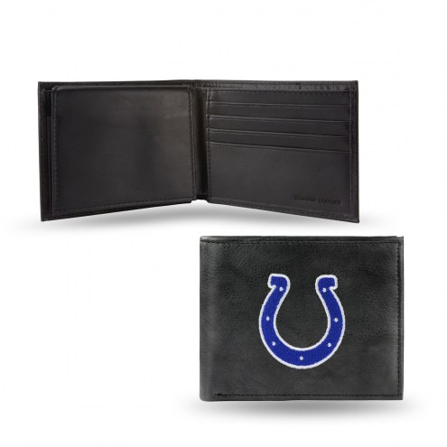 Indianapolis Colts Embroidered Leather Billfold Wallet