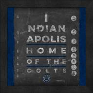 Indianapolis Colts Eye Chart