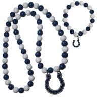 Indianapolis Colts Fan Bead Necklace & Bracelet Set
