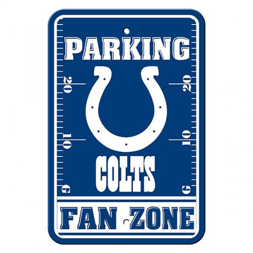 Indianapolis Colts Fan Zone Parking Sign