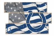Indianapolis Colts Flag 3 Plank Sign