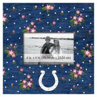 """Indianapolis Colts Floral 10"""" x 10"""" Picture Frame"""