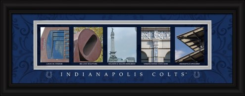 Indianapolis Colts Framed Letter Art