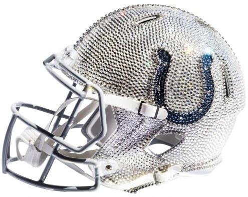 Indianapolis Colts Full Size Swarovski Crystal Football Helmet
