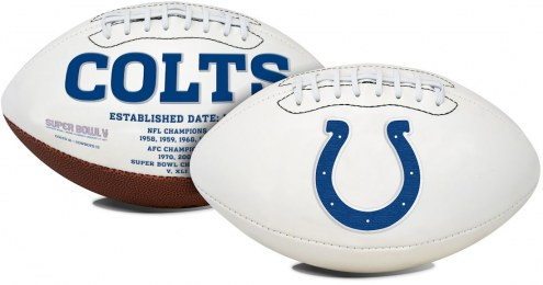 Indianapolis Colts Full Size Embroidered Signature Series Football