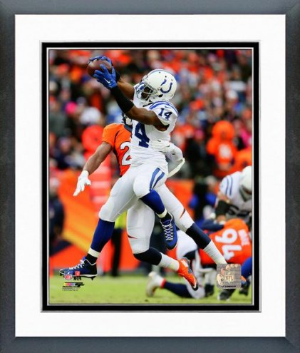 Indianapolis Colts Hakeem Nicks 2014 Playoff Action Framed Photo