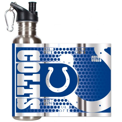 Indianapolis Colts Hi-Def Stainless Steel Water Bottle
