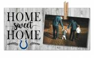 Indianapolis Colts Home Sweet Home Clothespin Frame