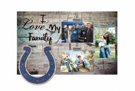 Indianapolis Colts I Love My Family Clip Frame