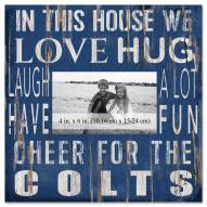 """Indianapolis Colts In This House 10"""" x 10"""" Picture Frame"""