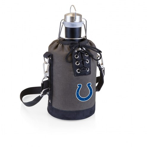 Indianapolis Colts Insulated Growler Tote with 64 oz. Stainless Steel Growler