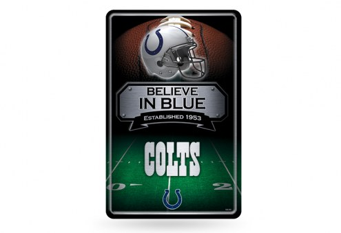 Indianapolis Colts Large Embossed Metal Wall Sign