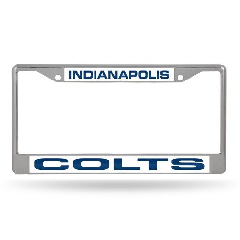 Indianapolis Colts Laser Chrome License Plate Frame