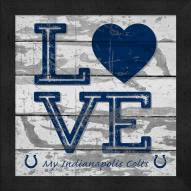 Indianapolis Colts Love My Team Square Wall Decor