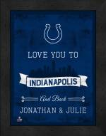 Indianapolis Colts Love You to and Back Framed Print