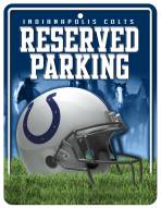 Indianapolis Colts Metal Parking Sign