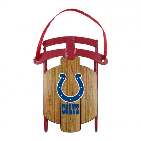 Indianapolis Colts Metal Sled Tree Ornament