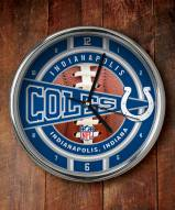 Indianapolis Colts NFL Chrome Wall Clock