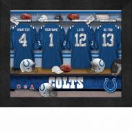 Indianapolis Colts NFL Personalized Locker Room 11 x 14 Framed Photograph