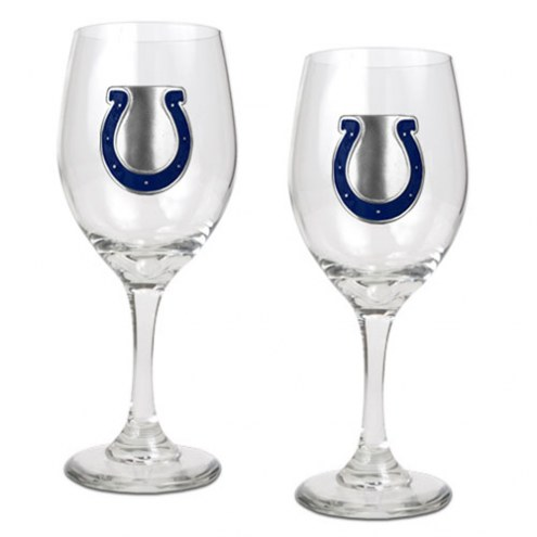 Indianapolis Colts NFL Wine Glass - Set of 2