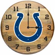 Indianapolis Colts Oak Barrel Clock