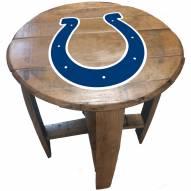 Indianapolis Colts Oak Barrel Table