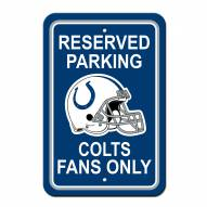 Indianapolis Colts Parking Sign