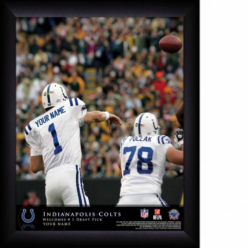 Indianapolis Colts Personalized 11 x 14 NFL Action QB Framed Print