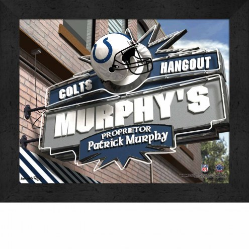 Indianapolis Colts 11 x 14 Personalized Framed Sports Pub Print