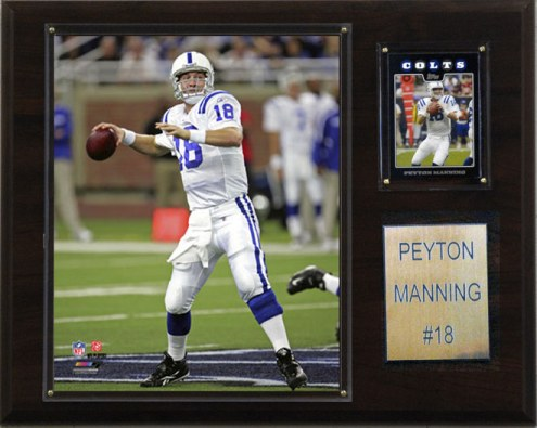 """Indianapolis Colts Peyton Manning 12 x 15"""" Player Plaque"""