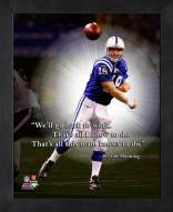 Indianapolis Colts Peyton Manning Framed Pro Quote