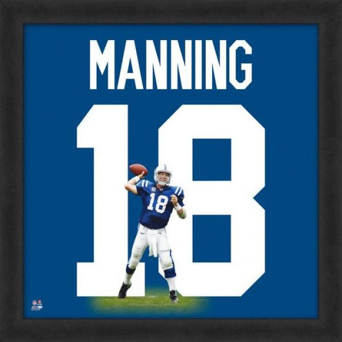 Indianapolis Colts Peyton Manning Uniframe Framed Jersey Photo