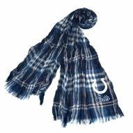 Indianapolis Colts Plaid Crinkle Scarf