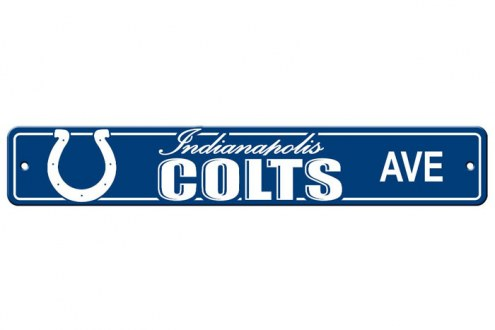 Indianapolis Colts Plastic Street Sign