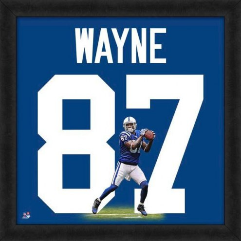 Indianapolis Colts Reggie Wayne Uniframe Framed Jersey Photo