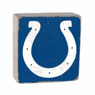 Indianapolis Colts Rustic Block